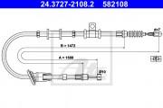 Трос стояночного (ручного) тормоза ATE 24.3727-2108.2