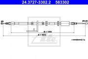 Трос стояночного (ручного) тормоза ATE 24.3727-3302.2