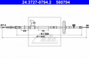 Трос стояночного (ручного) тормоза ATE 24.3727-0794.2