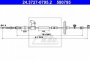 Трос стояночного (ручного) тормоза ATE 24.3727-0795.2