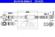 Тормозной шланг ATE 24.5143-0564.3