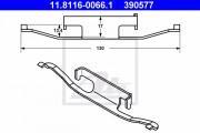 Монтажный комплект тормозных колодок ATE 11.8116-0066.1