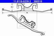 Монтажный комплект тормозных колодок ATE 11.8116-0239.2