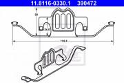 Монтажный комплект тормозных колодок ATE 11.8116-0330.1