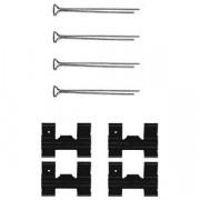 Монтажный комплект тормозных колодок DELPHI LX0023