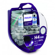 Philips Комплект галогенных ламп Philips Racing Vision GT200 12342RGTS2 +200% (H4)
