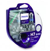 Комплект галогенних ламп Philips RacingVision GT200 12972RGTS2 +200% (H7)