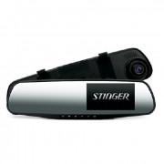 Зеркало заднего вида с монитором и видеорегистратором Stinger DVR-M489FHD
