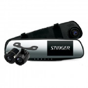Зеркало заднего вида с монитором, видеорегистратором и камерой заднего вида Stinger DVR-M489FHD cam