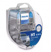 Комплект галогенных ламп Philips WhiteVision ultra 12258WVUSM (H1)