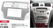 Переходная рамка Carav 11-264 Lexus ES 2001-2006 / Toyota Windom 2001-2006 (серый цвет), 2 DIN