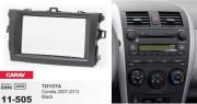 Переходная рамка Carav 11-505 Toyota Corolla 2007-2013 (черный цвет), 2 DIN