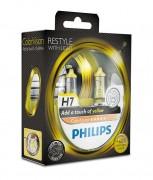 Комплект галогенных ламп Philips ColorVision PS 12972CVPYS2 (H7), желтый цвет