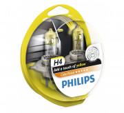 Комплект галогенных ламп Philips ColorVision PS 12342CVPYS2 (H4), желтый цвет