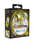 Комплект галогенных ламп Philips ColorVision PS 12342CVPYS2 (H4), желтый цвет