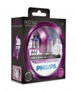 Комплект галогенных ламп Philips ColorVision PS 12342CVPPS2 (H4), фиолетовый цвет