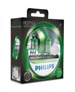 Комплект галогенных ламп Philips ColorVision PS 12342CVPGS2 (H4), зеленый цвет