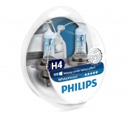 Комплект галогенных ламп Philips WhiteVision PS 12342WHVSM (H4)