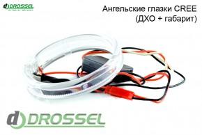 Ангельские глазки Zax BMW F-Style CREE (ДХО + габарит)
