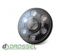 Би-светодиодные LED фары 7'' (ближний / дальний свет + DRL)_3