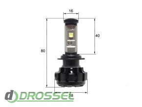 Светодиодная (LED) лампа Sho-Me G1.4 H7 40W_7