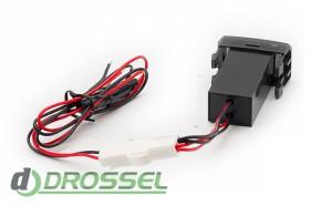 USB разъем Carav 17-203 в штатную заглушку Toyota / Lexus_2