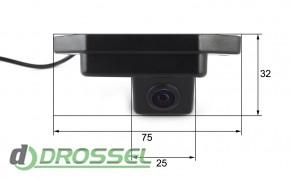 Камера заднего вида Falcon SC01HCCD-170 для Toyota Prado 120 (ул