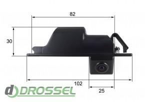 Камера заднего вида Falcon SC24HCCD-170 для Opel Insignia, Astra
