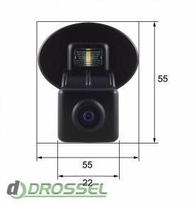 Камера заднего вида Falcon SC43HCCD-170 для Kia Cerato New (улуч