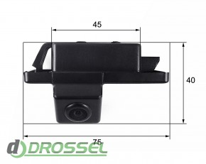 Камера заднего вида Falcon SC50HCCD-170 для Citroen C4, C5, Triu