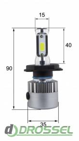X1.1 H4 24W Светодиодная (LED) лампа3
