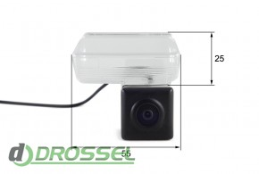 Камера заднего вида Falcon SC61HCCD-170 для Toyota Camry 2012 (у