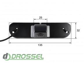 Камера заднего вида Falcon SC89HCCD-170 для Honda Civic (улучшен