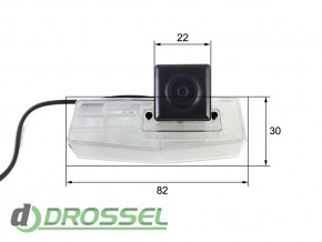 Камера заднего вида Falcon SC92HCCD-170 для Lexus CT200 (улучшен