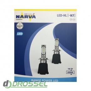Комплект светодиодов Narva Range Power LED 18005 (H7)