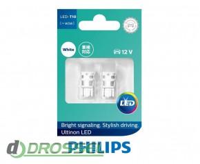 Комплект светодиодов Philips Ultinon LED (T10 / W5W) 11961ULW4X2