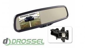 Штатное зеркало заднего вида с монитором Gazer MM508