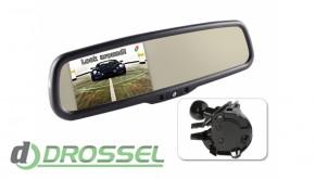 Штатное зеркало заднего вида с монитором Gazer MM510