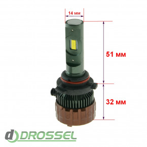 Светодиодная лампа Cyclone HB4 (9006) 5700K 5500Lm CSP type 22-2