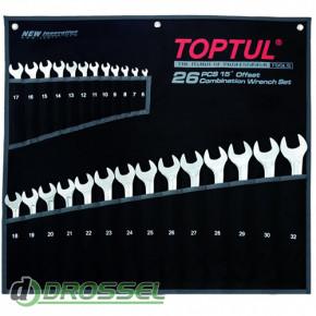 Набор ключей комбинированных Toptul GPAX2601-1