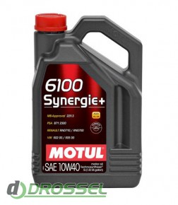 Моторное масло Motul 6100 Synergie+ 10W40