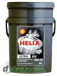 Моторное масло Shell Helix Ultra Professional AV 0w30 20л