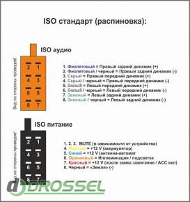 Универсальный адаптер ISO для подключения магнитолы Carav 12-001