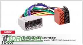 Переходник / адаптер ISO Carav 12-007 для Chrysler 2001+ / Jeep