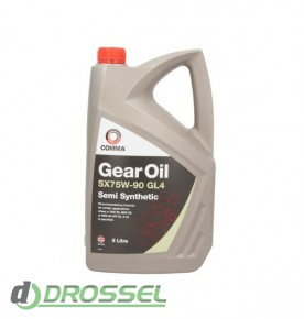 Трансмиссионное масло Comma SX75w90 GEAR OIL GL4